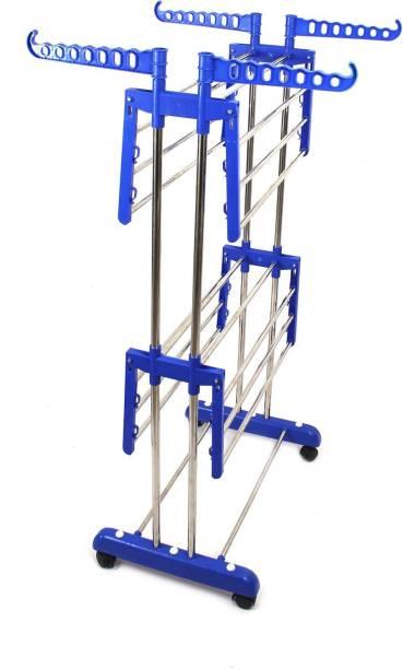 TNC by TNC Steel, Plastic, Aluminium, Wood Floor Cloth Dryer Stand 900012