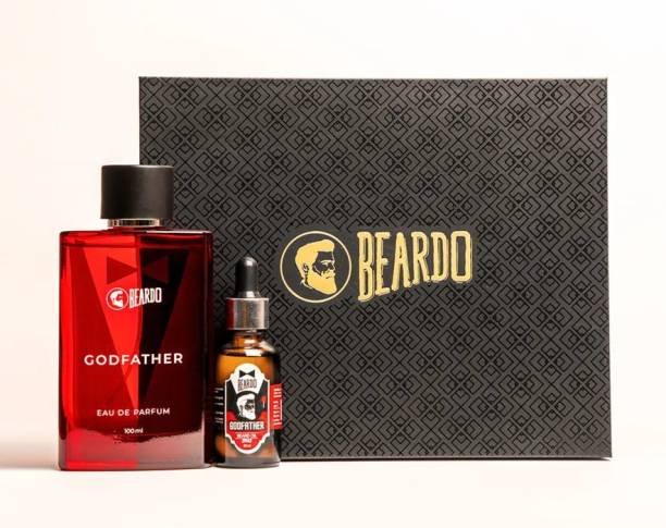 BEARDO Godfather Gift Set (Godfather Perfume 100ml, Godfather Beard Oil 30ml & Gift Box)