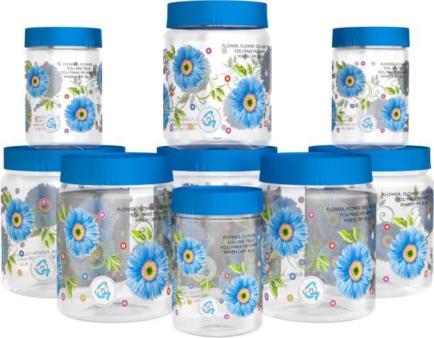 GPET Print Magic Container Blue Pack of 9 - 1500ml (3 pcs), 1000ml (3 pcs), 450ml (3 pcs)  - 1500 ml, 1000 ml, 450 ml Plastic Grocery Container