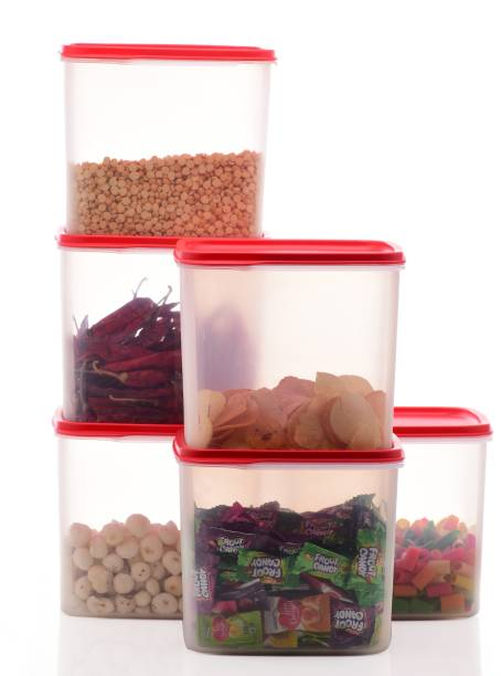 Flipkart SmartBuy Plastic Squre Airtight Kitchen Containers / Kitchen Storage Containers / Storage Box / Plastic Box / Plastic Containers / Canisters / Combo / Set For Tea, Coffee, Sugar, Food, Grain, Rice, Masala, Pasta, Pulses, Spices, Kitchen  - 4000 ml Plastic Grocery Container