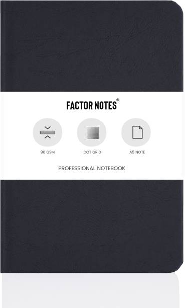 Factor Notes Hard Cover 90 GSM Natural Shade Paper Journal Diary A5 Notebook Dot Grid 192 Pages