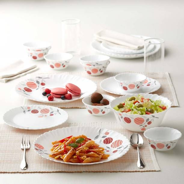 Larah by Borosil Pack of 13 Opalware Dinner Set