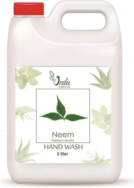 Veda NEEM Organic Hand Wash, Natural, Vegan, All Purpose, Sulphate, Paraben Free Hand Wash Can
