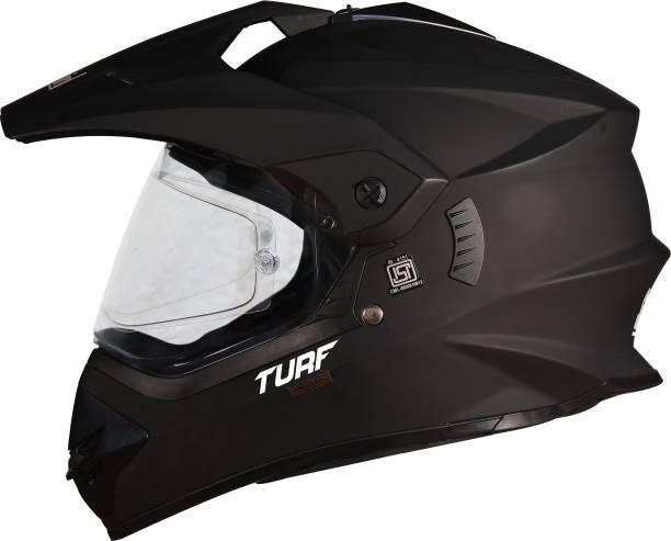 Steelbird Off Road TURF Motocross Helmet in Matt H.Grey with Extra Clear Visor Motorbike Helmet