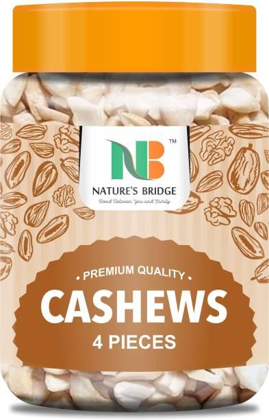 Nature's Bridge Premium 4-Piece Cashew Nuts 400 gm / Kaju Tukdi / Kaju / Kaju for Kaju Katli / Cashew Nuts - 400 Gm Jar Pack Cashews