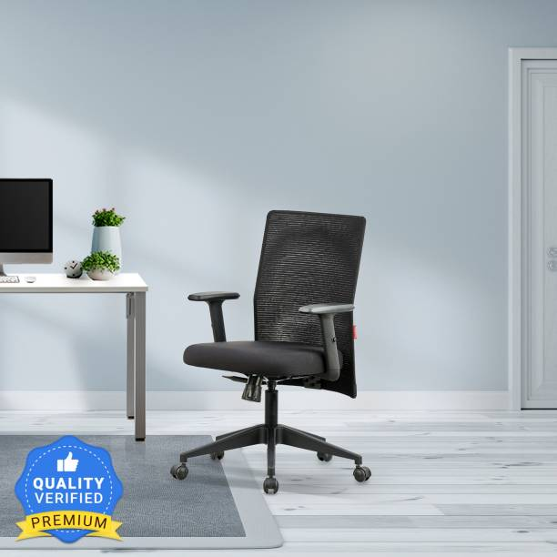Featherlite Contact MB Mesh Fabric Office Adjustable Arm Chair