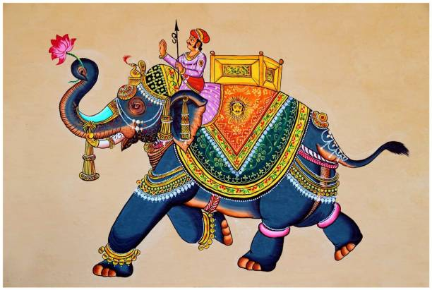 Traditional elephant poster Paper Print