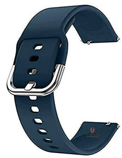 V-TAN Soft Silicone Band Strap With Metal Buckle Compatible with Boat Storm Smart Watch Strap (Blue) Smart Watch Strap