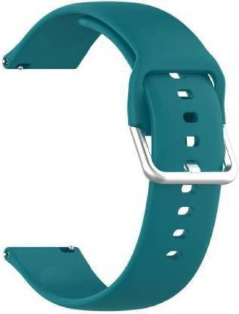 V-TAN Soft Silicone Band Strap With Metal Buckle Compatible with Noise Colorfit Pro 2 Smart Watch Strap (Green) Smart Watch Strap