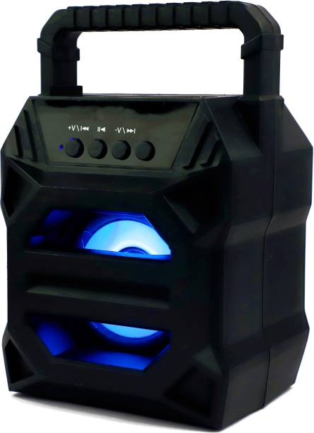 Sulfur NEW ARRIVAL |3D sound| Splash proof| Water resistant| Extra Baas Stereo sound quality |Led Colour Changing Lights | mini Home theatre| AUX supported| wireless Speaker| Long hour battery Life 10 W Bluetooth Speaker