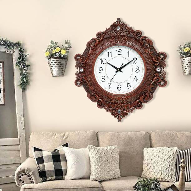 Attractionz Analog 48 cm X 41 cm Wall Clock
