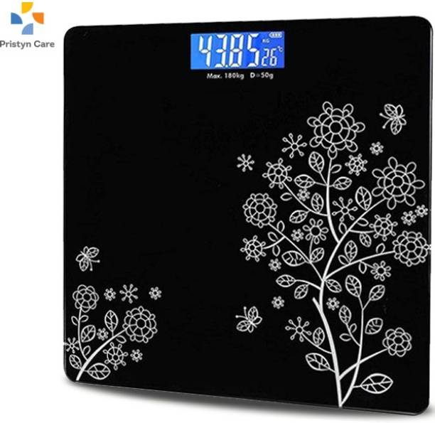 Pristyn care Heavy Duty Electronic Thick Tempered Glass LCD Display Square Electronic Digital Personal Bathroom Health Body Weight Bathroom Weighing Scale, weight bathroom scale digital, Bathroom Health Body Weight Scales For Body Weight, Weight Scale Digital For Human Body, Weight Machine For Body Weight LV Weighing Scale