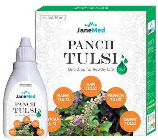 JaneMed Panch Tulsi Ark Drops for Cough Cold, Immunity Booster -30ML Pack of-01 (30 ml)