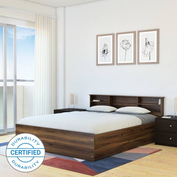 Flipkart Perfect Homes Opus Engineered Wood Queen Box Bed
