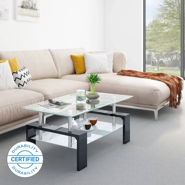 Flipkart Perfect Homes Dorn Glass Coffee Table