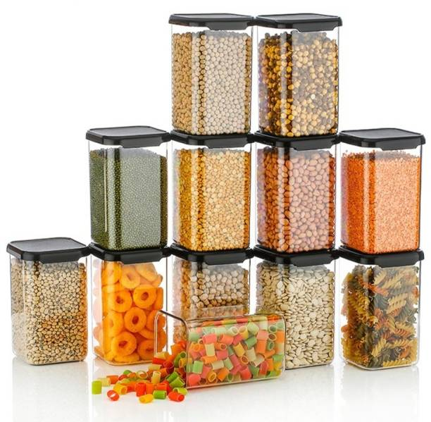 Flipkart SmartBuy Kitchen Containers Set Air Tight Plastic Storage Container Combo Boxes Dabba For Groceries  - 1100 ml Plastic Grocery Container
