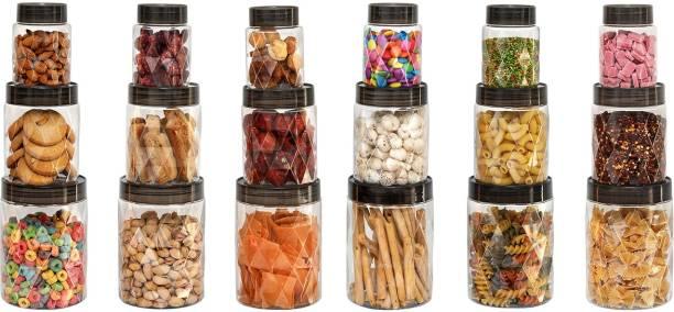 cello Checkers Diamond Container (Safe Plastic)  - 300 ml, 650 ml, 1200 ml Plastic Cookie Jar