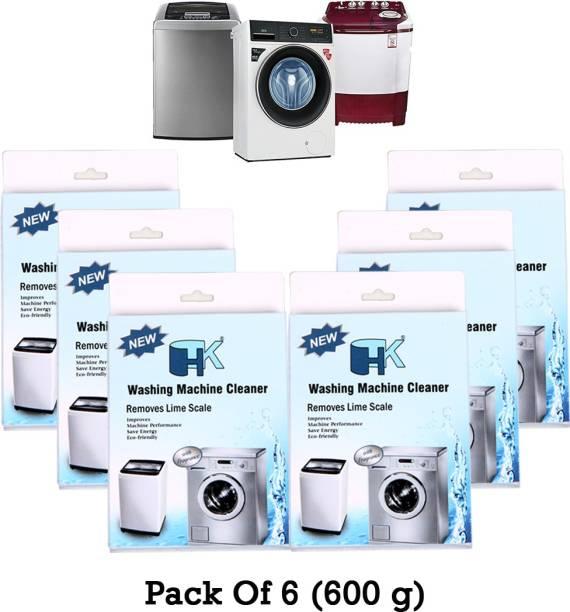 HK Washing Machine Cleaner (Descaler) (Pack of 6) Detergent Powder 600 g