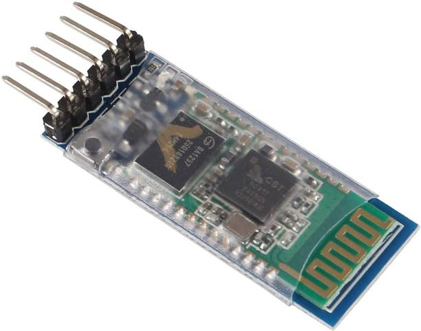 JAIVIK STORE HC-05 Wireless Bluetooth RF Transceiver Master Slave Integrated Bluetooth Module 6 Pin Wireless Serial Port Communication BT Module for Arduino Educational Electronic Hobby Kit