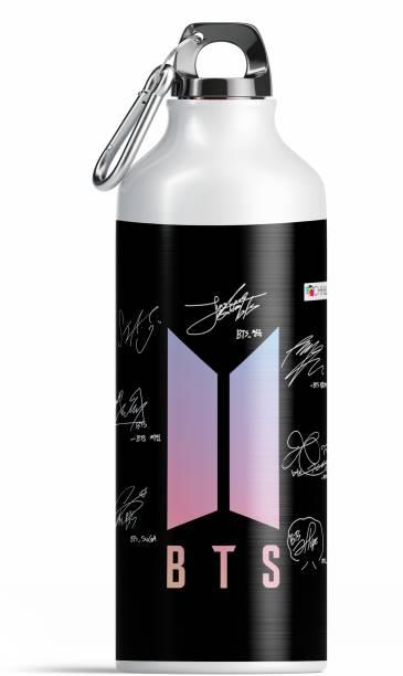 NH10 DESIGNS BTS Bottle BTS Bangtan Boys Vogue Printed Aluminium Sports Sipper Music Band V Suga J-Hope Jungkook Jin Jimin Rm BTS Signature Army Best Gift for BTS Lovers Water Bottle BTS Sipper (BTS SIP17) 600 ml Water Bottle
