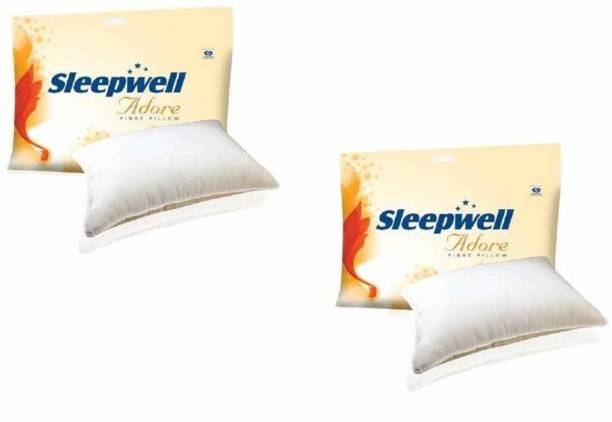 Sleepwell Microfibre Solid Sleeping Pillow Pack of 2