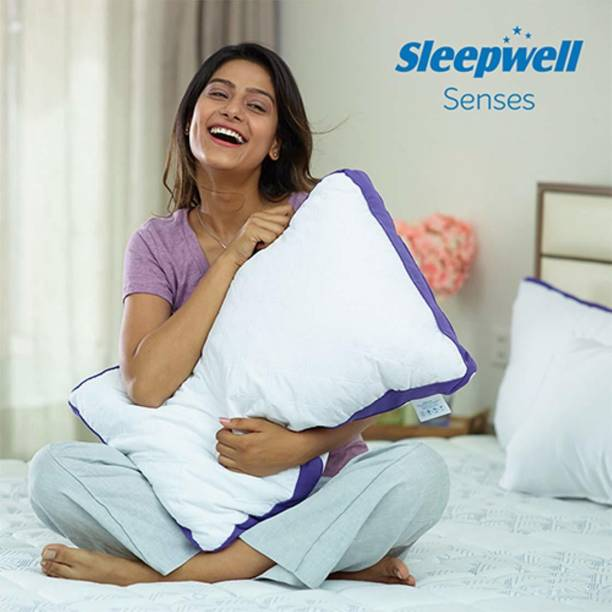 Sleepwell Microfibre Solid Sleeping Pillow Pack of 1