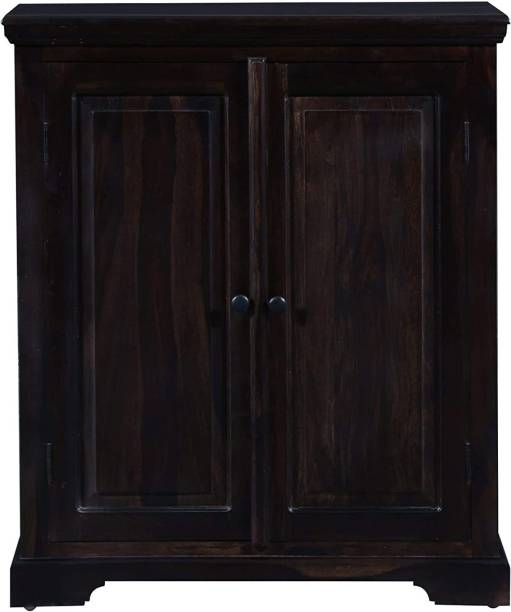 kohinoor glass art Solid Wood Free Standing Cabinet