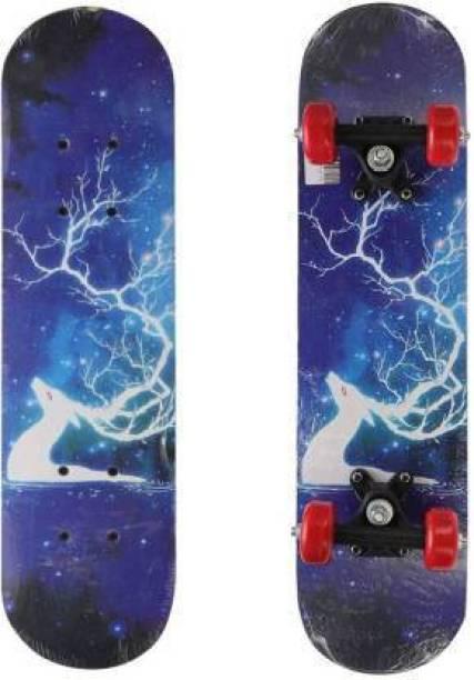 ROYAL SCOUT BLUE HIRAN_SKATEBOARD 6 inch x 24 inch Skateboard