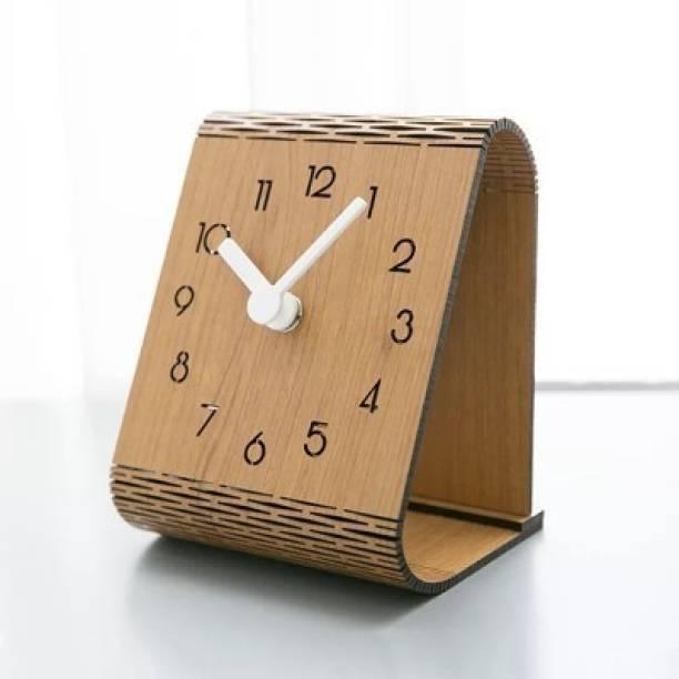 Kabir Enterprise Analog Brown Clock