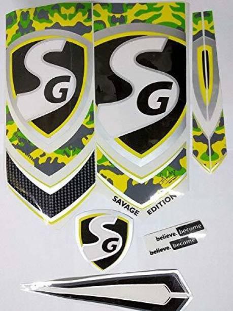 SG DC SG SAVAGE EDITION CRICKET BAT STICKER Bat Sticker