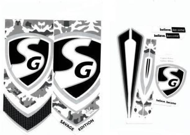 SG DC SG SAVAGE EDITION BLACK CRICKET BAT STICKER Bat Sticker