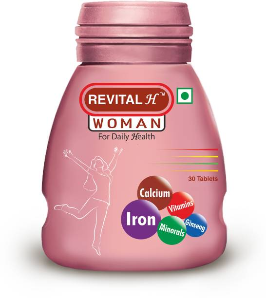 Revital H Women Multivitamin with Calcium, Zinc, Ginseng for Immunity, Strong Bones & Energy