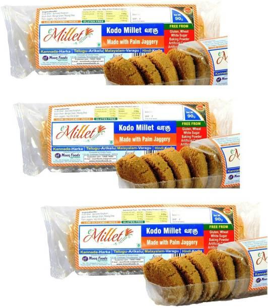 e-Millet Kodo Millet Palm Sugar Cookies pack of 90g x 3 nos Cookies