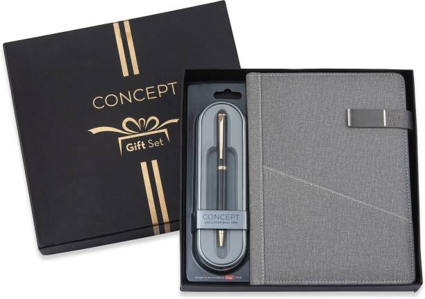 concept Infinity Diary Giftset with Pierre Cardin Ball Pen - A5 Diary Single Rule 192 Pages