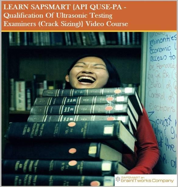 SAPSMART {API QUSE-PA - Qualification Of Ultrasonic Testing Examiners (Crack Sizing)}