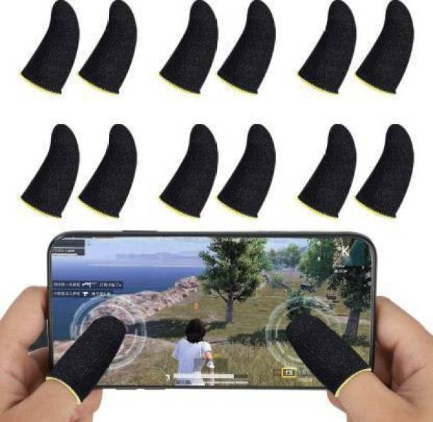 STYLERA 6 Pair Universal Size Set of 12 Mobile Gaming PUBG Finger Sleeves for Free Fire Playing Finger Sleeve  Gaming Accessory Kit
