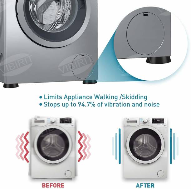 NIPRAM NATIONAL 4 Pieces Washing machine Stand Anti Vibration pads ,washing machine trolley Table Legs