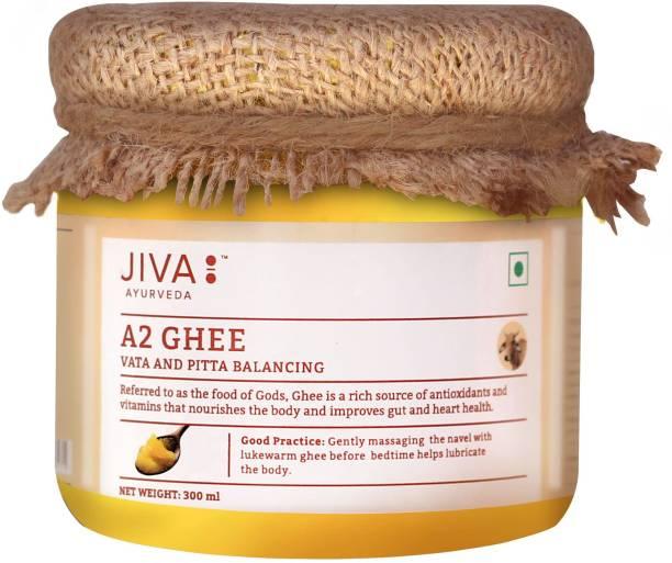 Jiva A2 Gir Cow Ghee - Pure Desi Ghee | 300 ml Ghee 300 ml Mason Jar