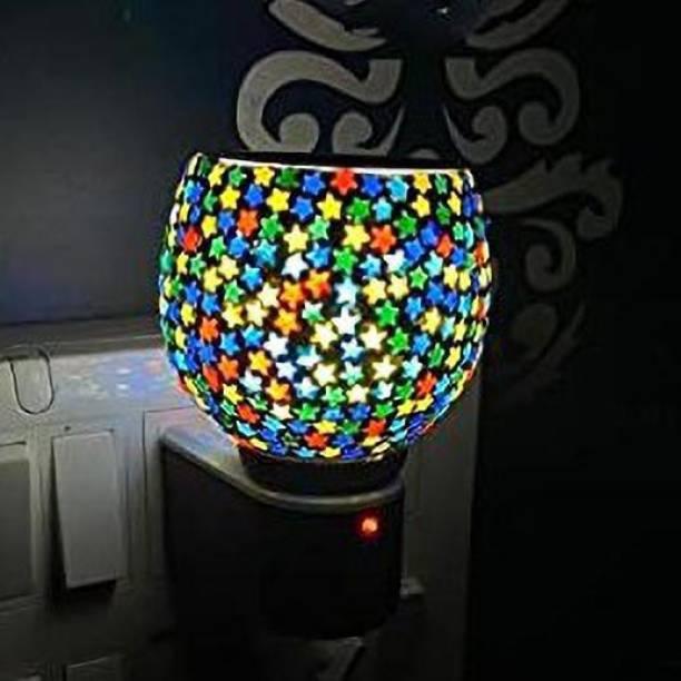 ASHTAMANGAL Electric Incense burner or kapoor dani With night lamp multicolour N_1 Glass Incense Holder