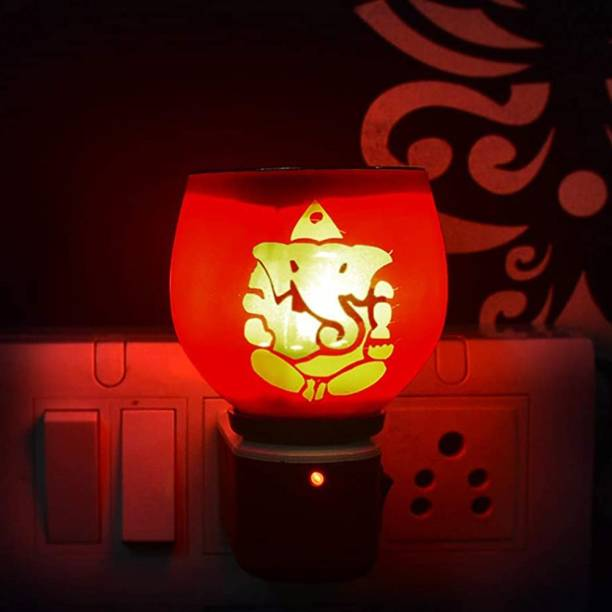 ASHTAMANGAL Electric Incense burner or kapoor dani With night lamp multicolour N_11 Glass Incense Holder