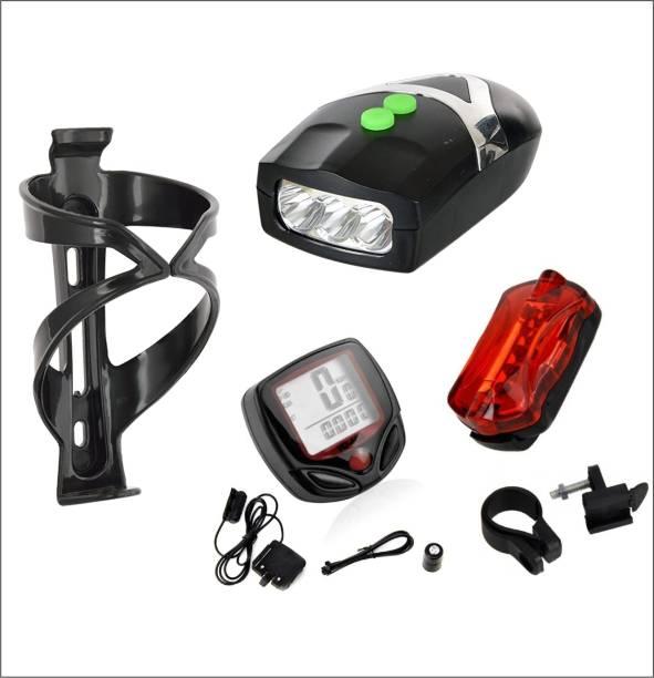 Protos India.Net Cycle Head Light Horn Tail Light Speedometer Digital Odometer Bottle Holder Digital Speedometer