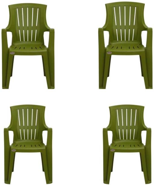 Supreme SUPER TURBO GREEN SET OF 4 CHAIR FULLY COMFORT nd weight bearing capacity 150 kg outdoor chair Plastic Outdoor Chair