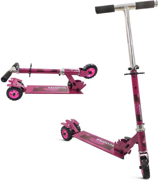 Miss & Chief 3 Wheel Adjustable Height Kids Scooter with Tractor Wheels (Weight Capacity 25 kgs)