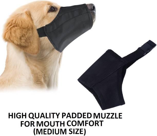 Hachiko For Extra Comfort Dog Muzzle Nylon Cloth Muzzle Proper Fetting For Dog (Medium Size) Black Medium Other Dog Muzzle