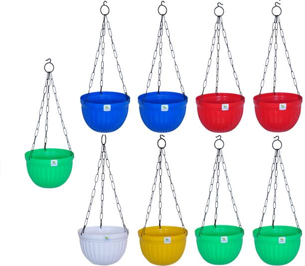 growplanter Flower pot With Hanger set of 9 Plant Container Set