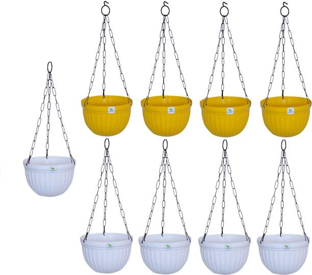 growplanter Flower Pot With hanger pack of 9 Plant Container Set