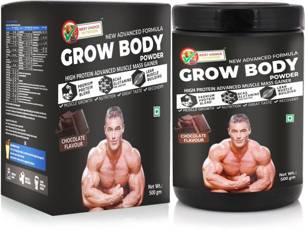 BEST CHOICE NUTRITION GROW BODY Whey Protein FOR WEIGHT GAIN MUSCLE BUILDING AND MUSCLE MASS GAIN Whey Protein