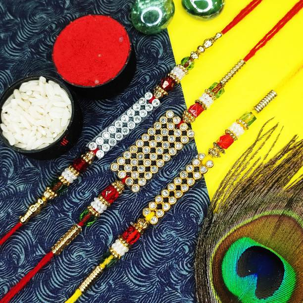 PDR Poonam Designer Rakhi Designer Rakhi, Chawal Roli Pack  Set