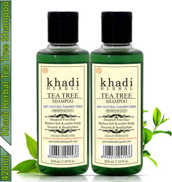 Khadi Herbal Tea Tree Shampoo/Hair Cleanser For Nourished & Healthy Hair (Pack Of-2)