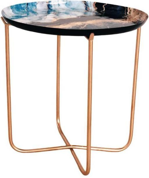 casagold Steel Bedside Table